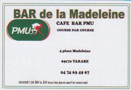 BAR de la Madeleine