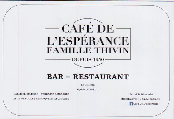 Cafe de Lesperance