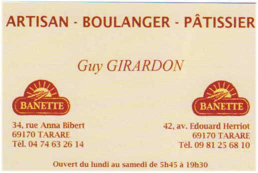 Boulangerie Girardon