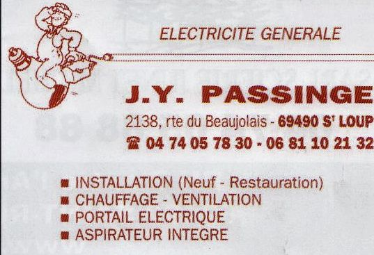 Electriciter J-Y PASSINGE
