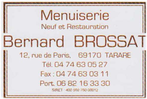 Menuiserie Bernard Brossat