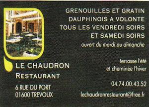 Resturant Le Chaudron Trevoux