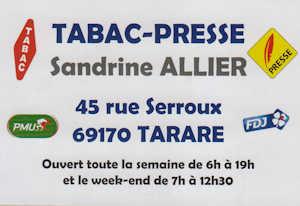 Tabac Presse Sandrine ALLiER