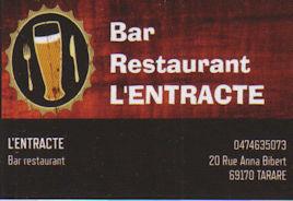 Bar retaurant L'entracte